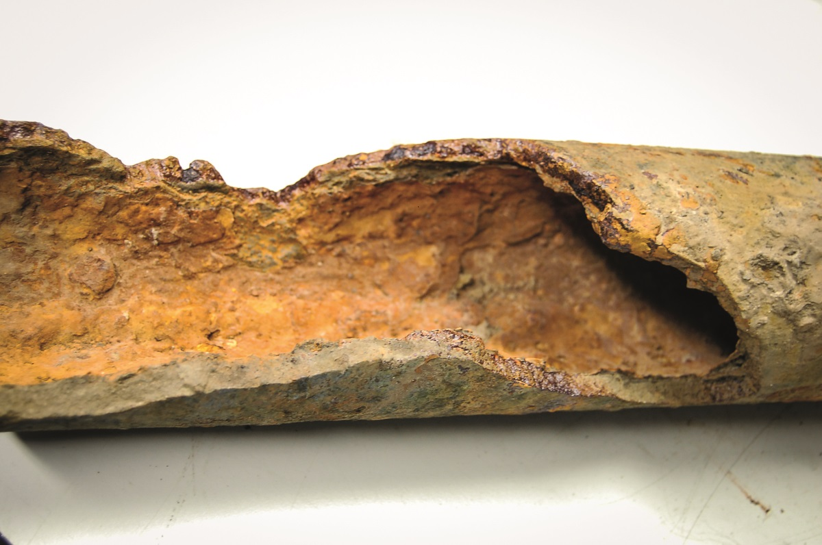 Failed pipe section sample