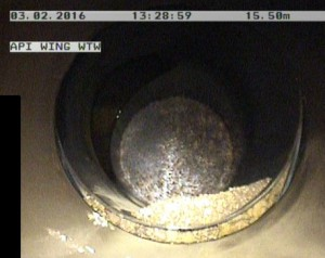 Water Pipe Inspection - Failed Joint with Pipe Ingress